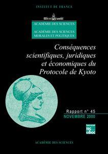 Conséquences scientifiques, juridiques et économiques du protocole de Kyoto