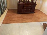 Photo wood look vinyl flooring