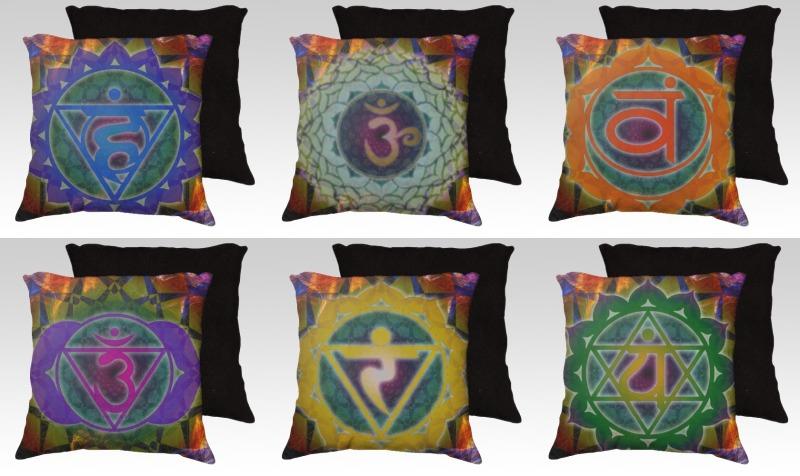 """7 Chakra Pillow Set - 22"""" preview"""