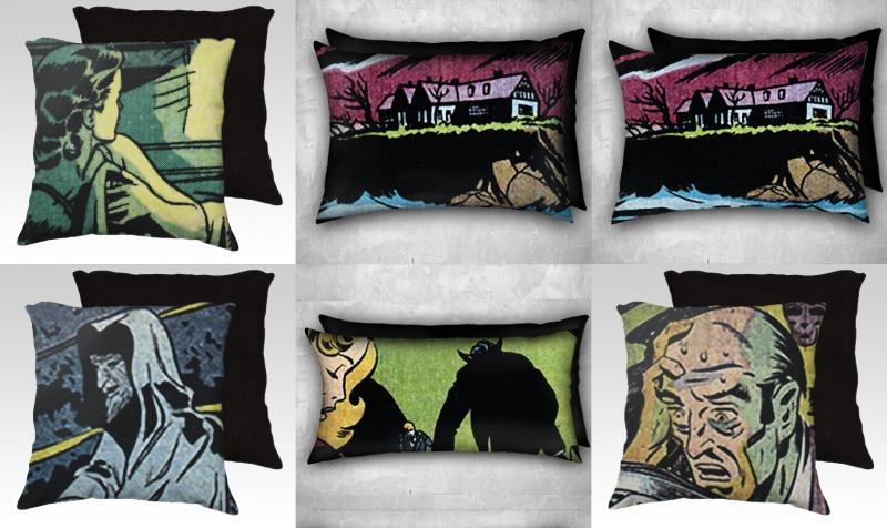Horror Pulp Pillows preview