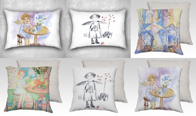 Pillows with Angels preview