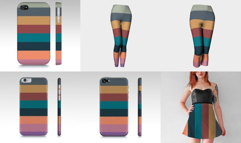 Aperçu de Color stripes in colorful pastel