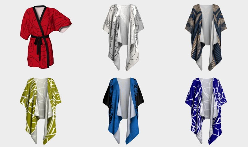 Draped Shrug Kimonos and Robes preview