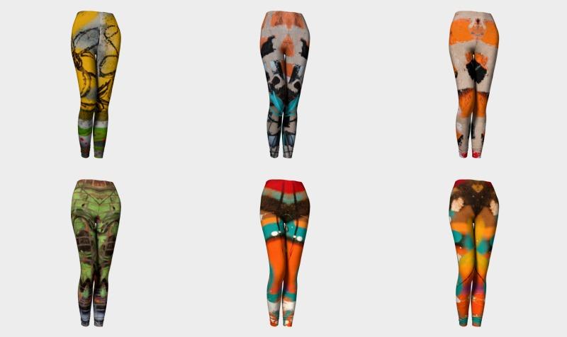 Womens Wearable Graffiti Leggings preview