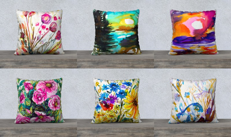"Couvre-coussins/Cushions covers 22x22"" preview"