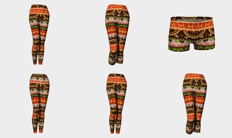 Aperçu de Tribal Mandala Mexican Brown