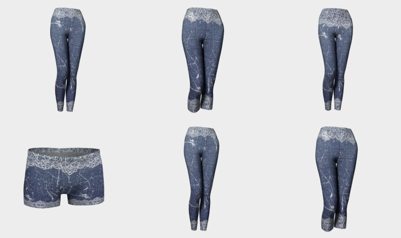 Aperçu de Denim Jeans with Lace