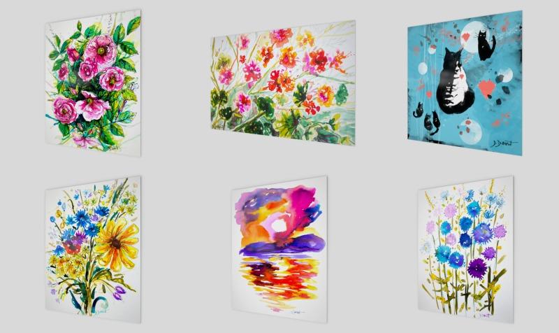 Aperçu de Aquarelles reproductions/watercolor art prints