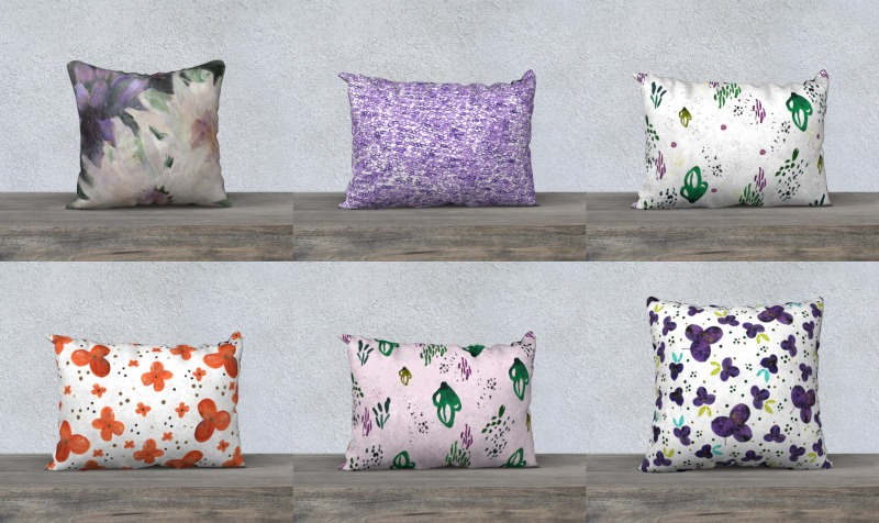 Painterly Pillows preview