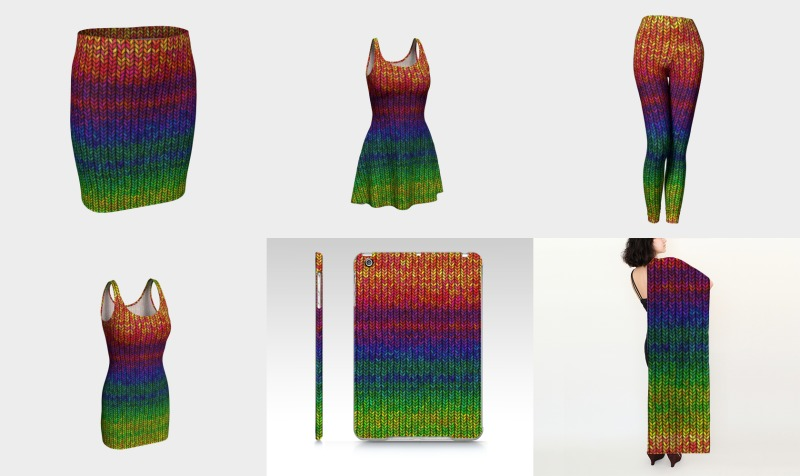 Large Rainbow Knit preview