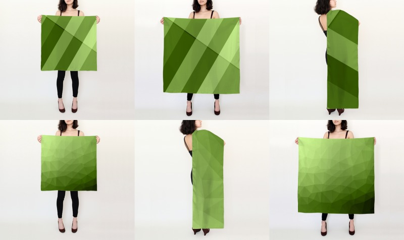 Greenery Silk Scarves preview