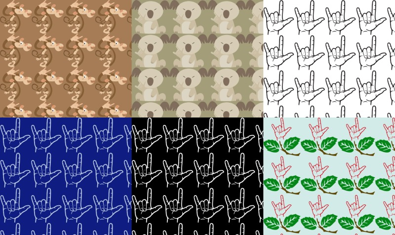 Sign Language Fabric preview