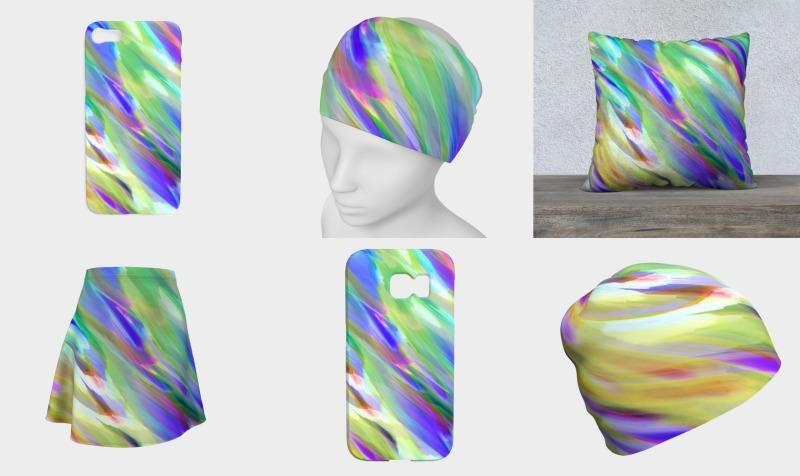 Colorful digital art splashing G401 preview