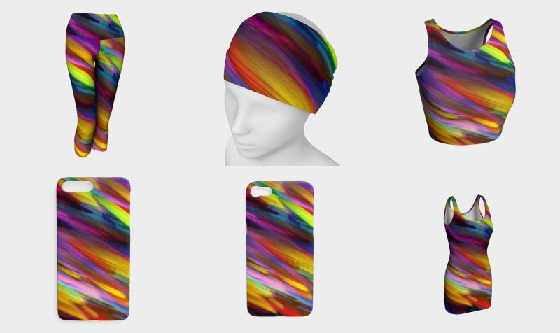 Colorful digital art splashing G398 preview
