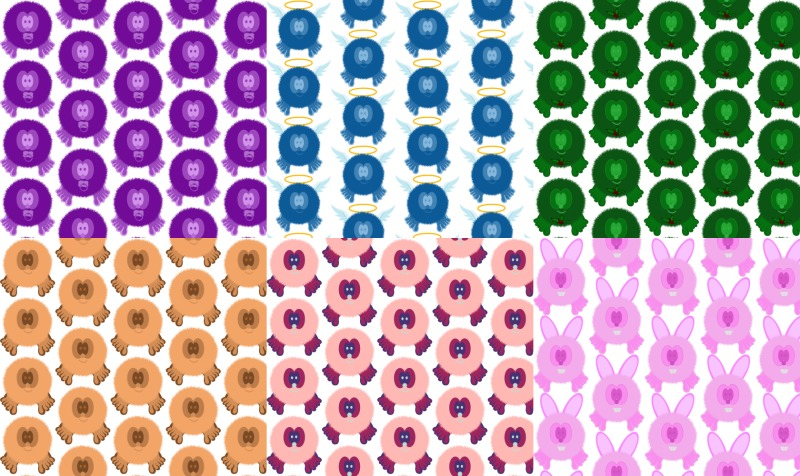Pom Pom Pals Fabric preview