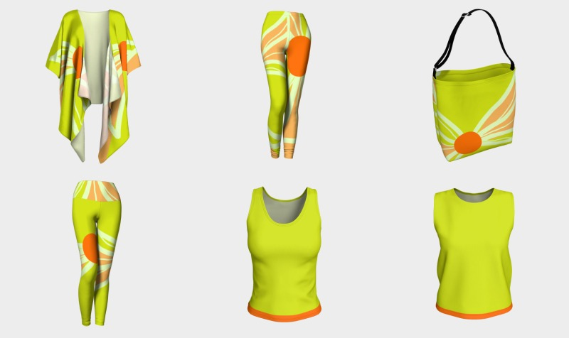 Lime Green and Peach Ensemble preview
