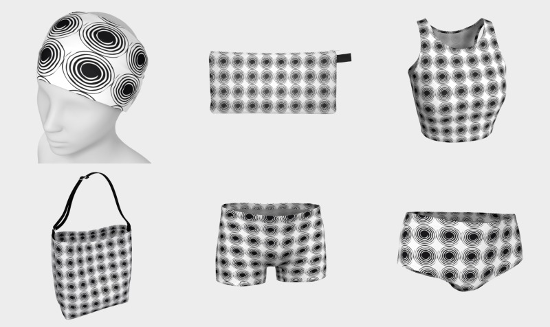 Polka Swirl B&W Collection by VCD © preview