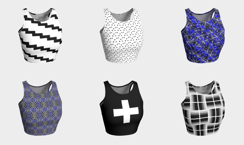 athletic crop tops by trebam preview