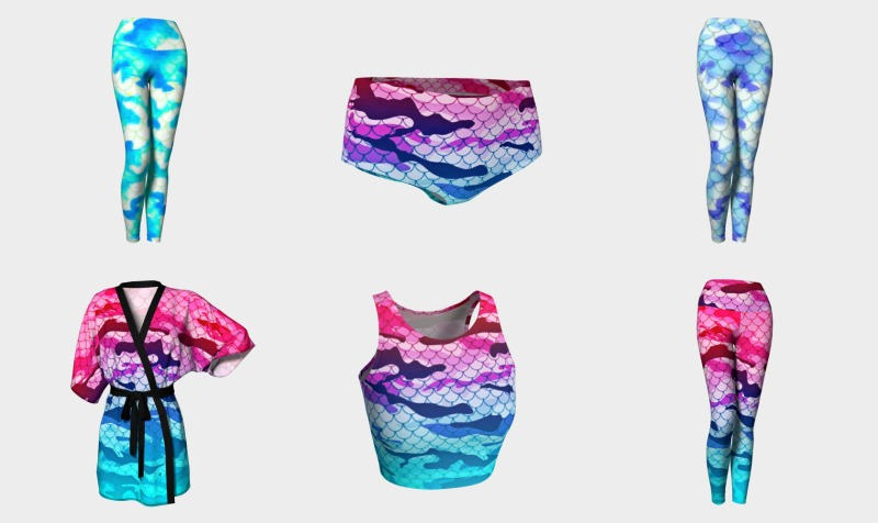 Camouflage Mermaid Collection preview