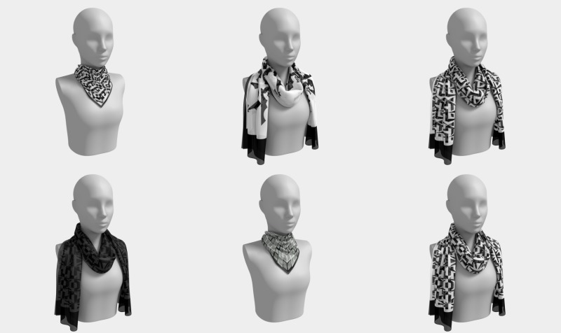 Signature Scarfs: Black & White preview