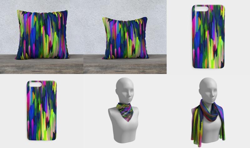 Colorful digital art splashing G256 preview
