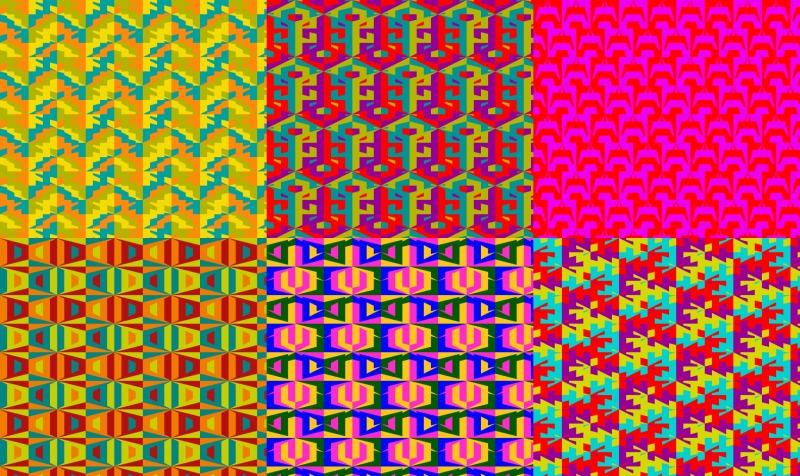 Aperçu de Mraurovian Fabric - 4 Colour