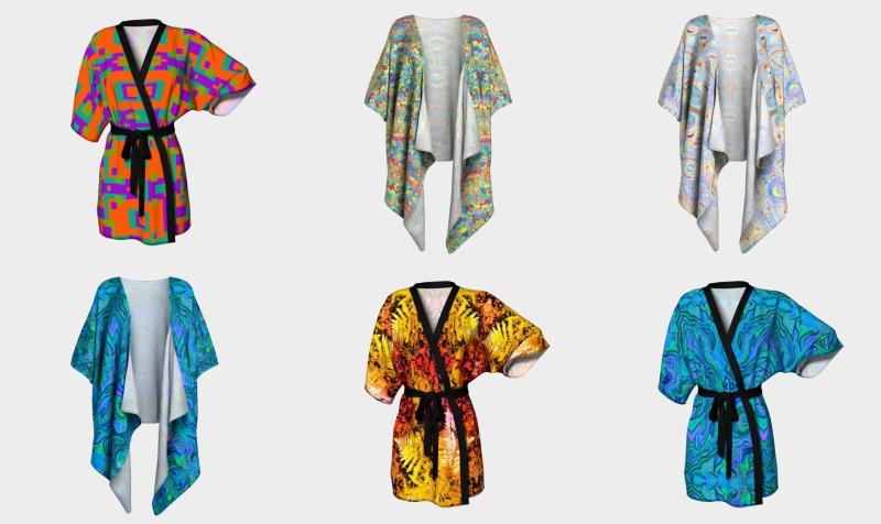 Aperçu de kimonos (robed and draped)