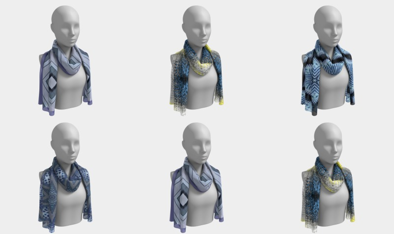 Long Scarves - Bluish Collection preview