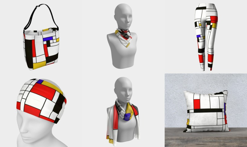 Abstract Mondrian preview