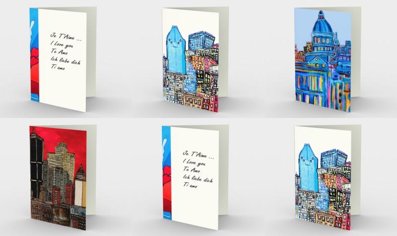 Carte de souhaite ville - City pack WishCard Montréal preview
