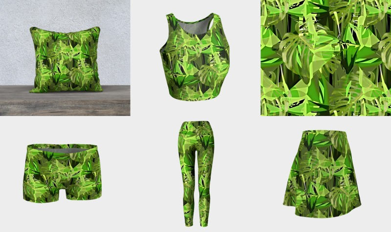 Green Tropical Leaves  preview