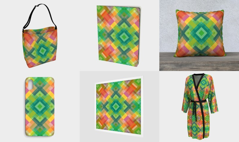 Colorful Geometric Pixel Pattern preview