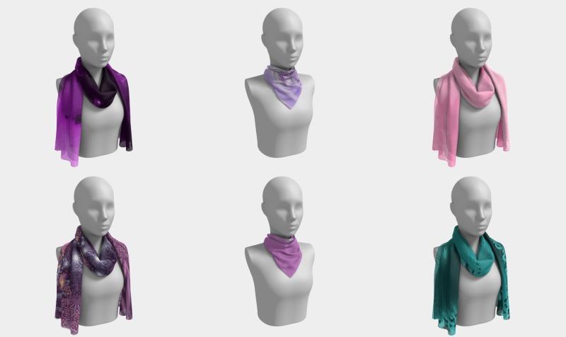 Fractal Art Scarves preview