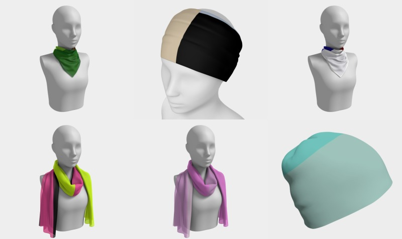 Delightfully Solid Scarves, Headwear, and Masks preview