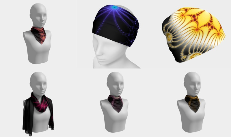 Fractal Flowers Scarves & Headwear preview