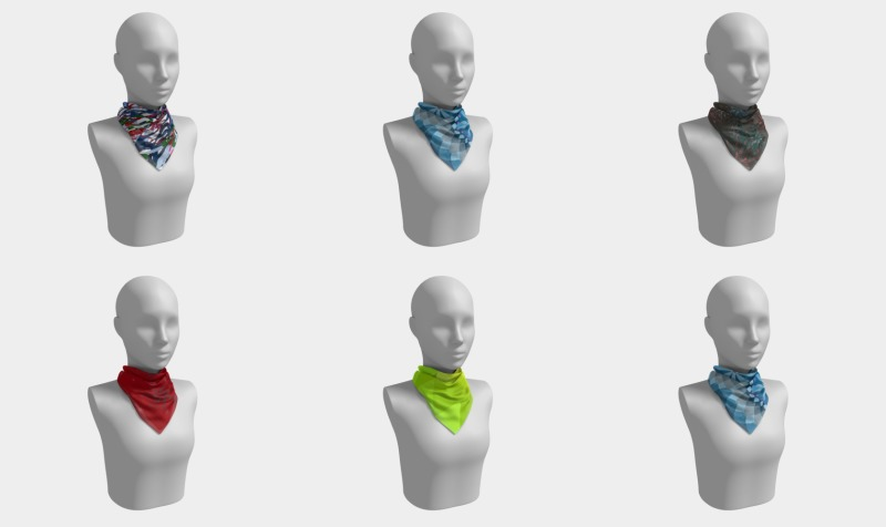 square scarf preview