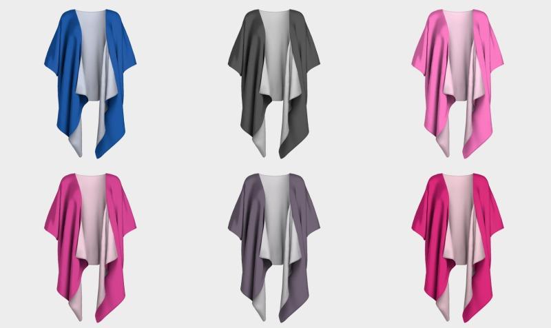 Solid Colour Draped Kimonos preview