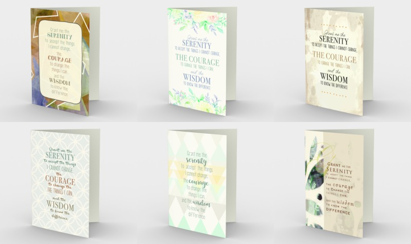 Serenity and Sobriety Greeting Cards preview