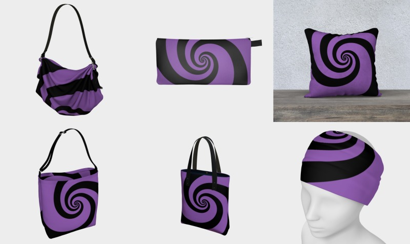 purple & black swirls preview