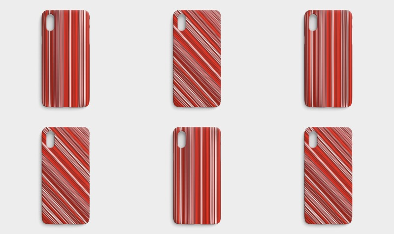 Many multi colored stripes in the red preview