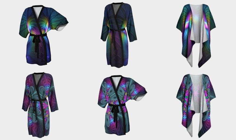 Coloful Kimonos and Peignoirs preview
