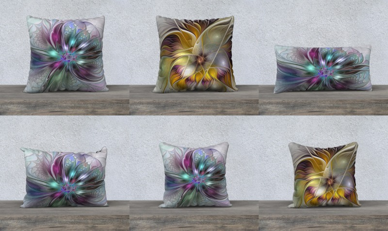 Floral Fantasy Colorful Pillow Cases preview