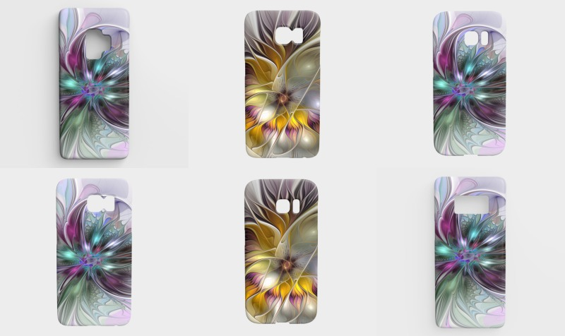 Floral Fantasy Colorful Galaxy Cases preview