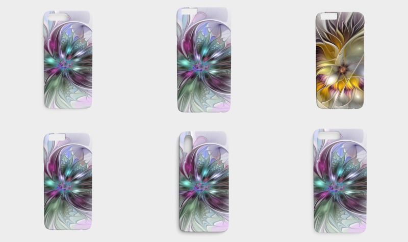 Floral Fantasy Colorful iPhone Cases preview