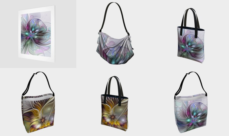 Floral Fantasy Colorful Bags preview