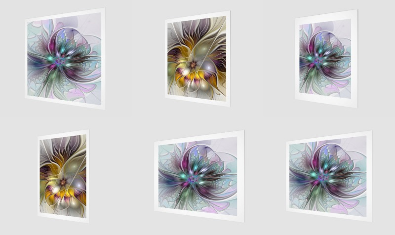 Floral Fantasy Colorful Wall Art preview