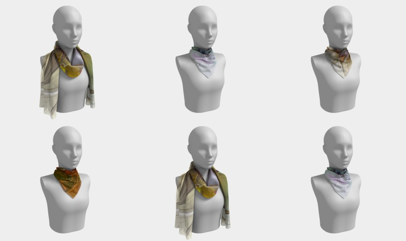 Floral Fantasy Colorful Scarves preview