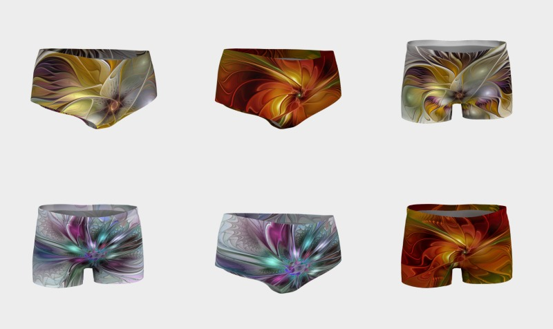 Floral Fantasy Colorful Shorts preview