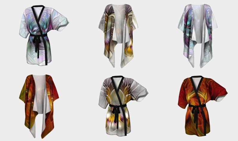 Floral Fantasy Colorful Kimonos preview