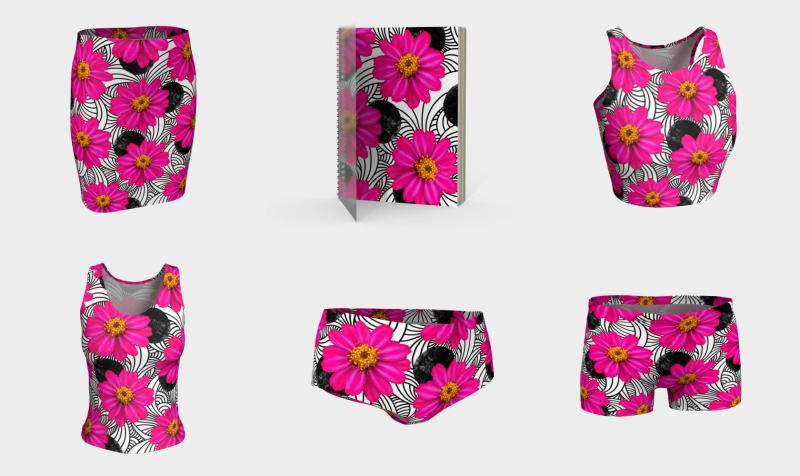 Hot Pink Floral preview